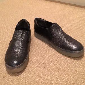 SAM EDELMAN Almost New Black Slip On Sneakers 7.5